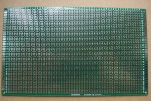 Double Sides, (both sides of the similarities, PTH vias) PCB board / chip the experiment board / bread board 18cmX30cm