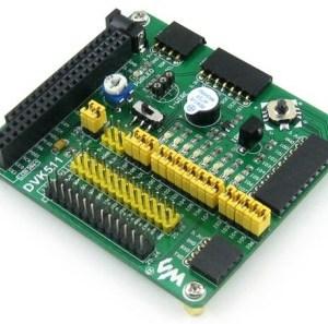 Raspberry Pi Expansion/Evaluation Board with I2C SPI 8IO UART LCD Interfaccia + joystick + 8 led - DVK511