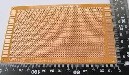 13 25 CM Bachelite  PCB Prototipazione Basetta Millefori Mono faccia Mis