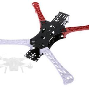 L450 4-Axis Quadcopter Frame Mini H Quad Bianco Rosso
