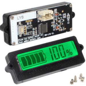 Type Built LY6 Blue / Green LCD Digitale Indicator Tester Batteria Capacity Lead-Acid Batteria Lithium
