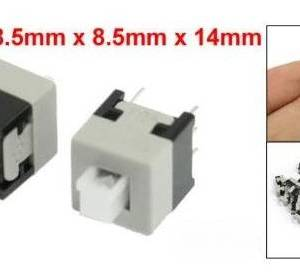 10 pezzi Interruttore autobloccante 8.5 * 8.5mm / Interruttore autobloccante 6 pin
