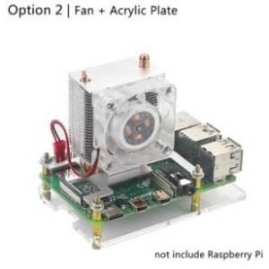 Ventilatore a torre Heatpipe + piastra in acrilico / Raspberry Pi 4 Ventilatore di raffreddamento a torre ICE Ventilatore a LED