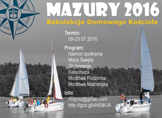 Mazury 2016 - Flotylla Domowego Kociola