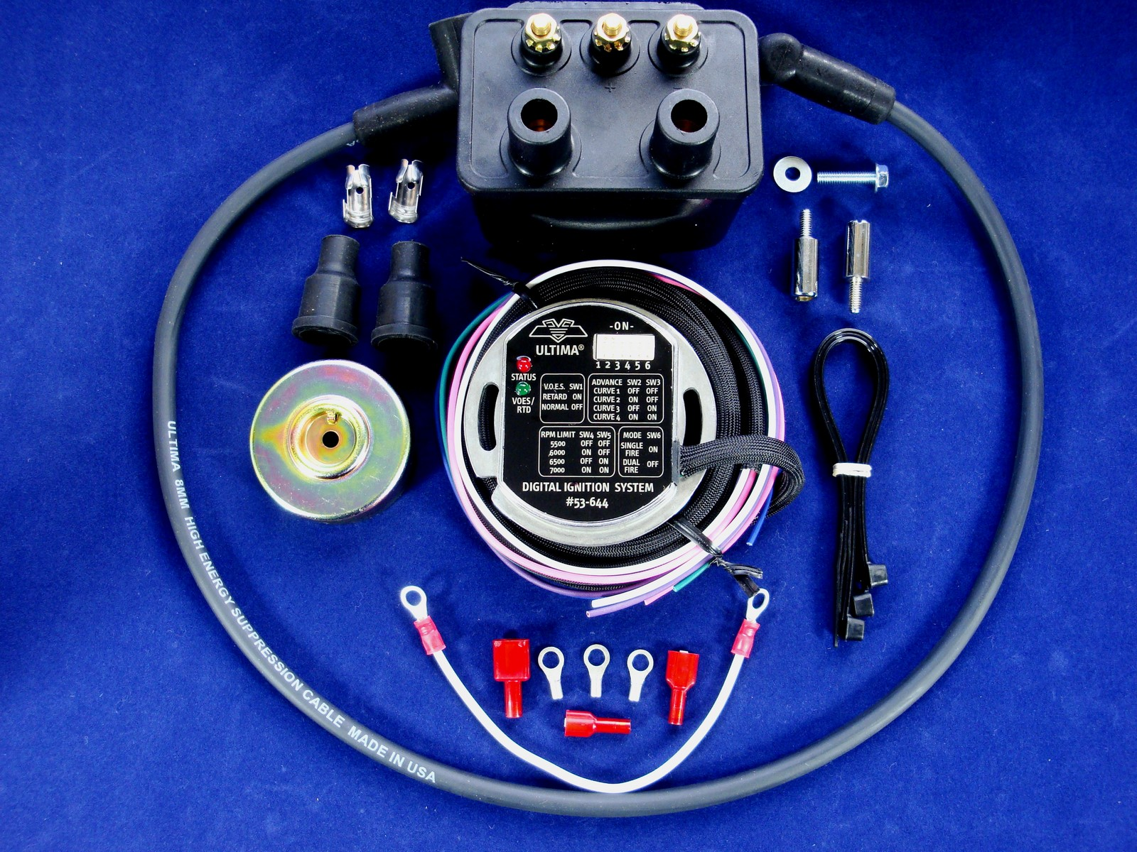 hight resolution of ultima wiring electrical components ultimaacircreg single fire programmable ignition kit w rotor usa made coil