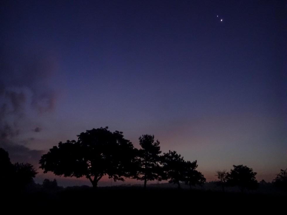 Morgenhimmel mit Venus und Jupiter