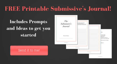 Submissive Journal Writing Prompts
