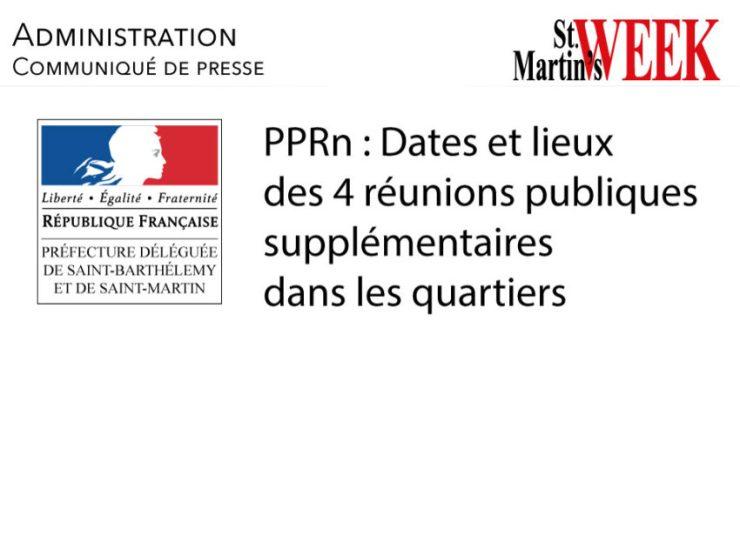 PPRn :Dates et lieux des 4 réunions publiques supplémentaires dans les quartiers