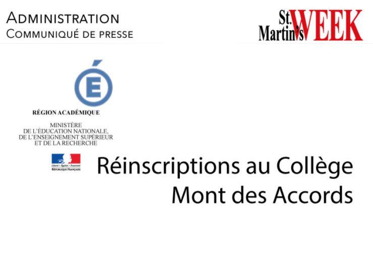 Réinscriptions au Collège Mont des Accords