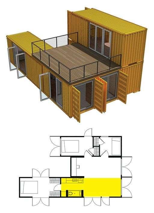 plan casa din container
