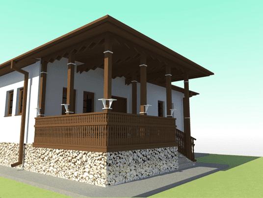 Casa in stil romanesc acces foisor 2