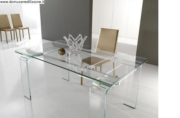 tavolo trasparente in cristallo modello Lord