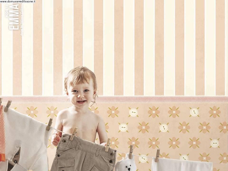 3 motivi per sceglierla e come ☆ per neonati, bimbe e maschietti: Carta Da Parati A Righe Per Cameretta