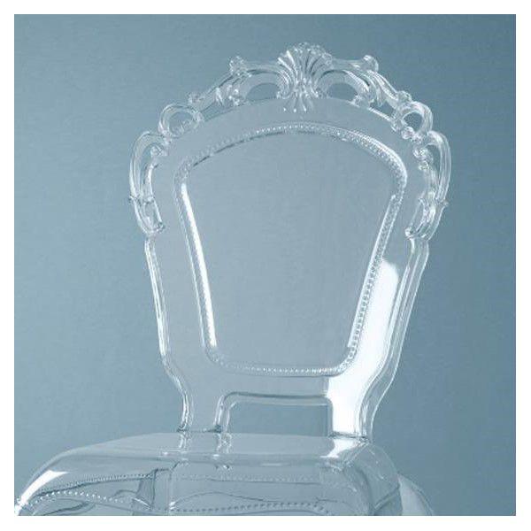Sedia barocca in policarbonato baci milano  DomuStore Luxury Store