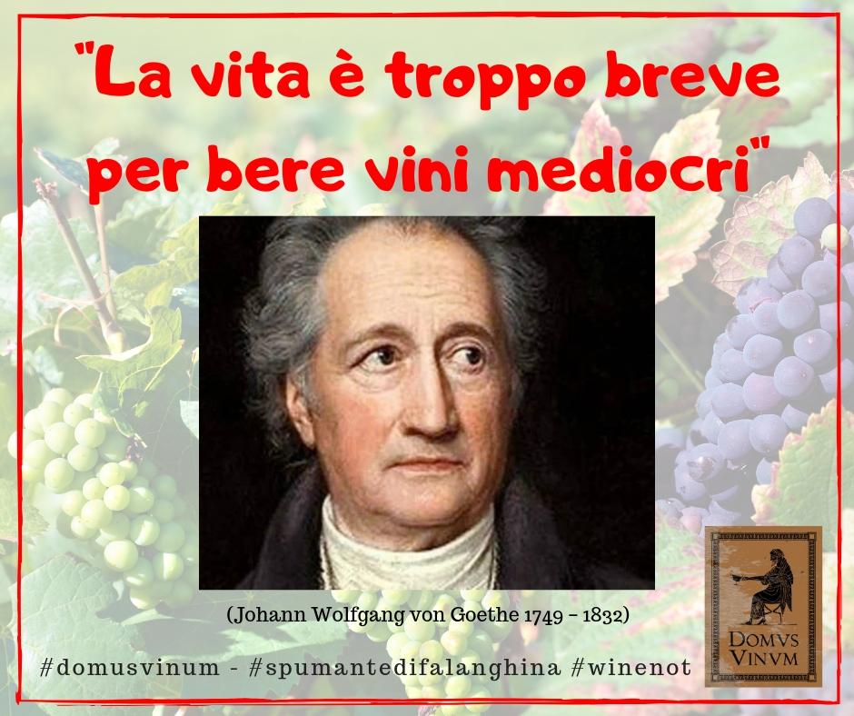 La vita è troppo breve per bere vini mediocri.