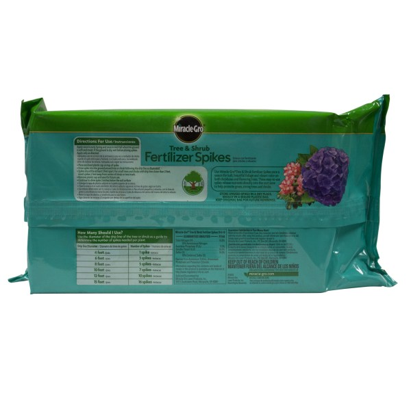 Miracle-gro Tree And Shrub Fertilizer Spikes