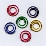 """Metallic -- 1/2"""" Mini Spiral Paper Clips -- 25 Pack"""