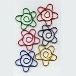 "Metallic -- 1 1/8"" Flower Paper Clips -- 15 Pack"