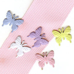"""Pastel -- 1/2"""" Butterfly -- Paper Fasteners -- 50 Pack"""