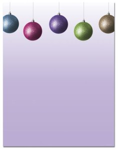 "Glitzy Bulb -- Foil Holiday Stationery -- 8 1/2"" x 11"" -- 80 Sheets"