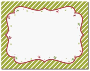 Peppermint Twist -- 10 Sheets -- 40 Postcards per pack