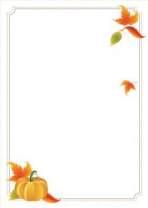 Pumpkin 5x7 flat card invitation