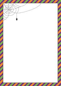 Spider web 5x7 flat card invitation