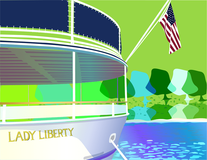 All aboard the Trump playbook and Lady Libertyfrom Ellis Island