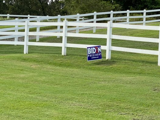 Biden for President yard sign