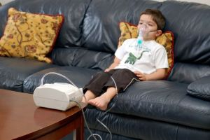 Child receiving a Nebulized Treatment for Asthma
