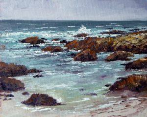 Asilomar Beach 8x10 Oil