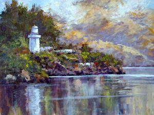 Akaroa Lighthouse 12x16 Acrylic