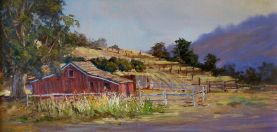 The Red Barn 12x24 Oil