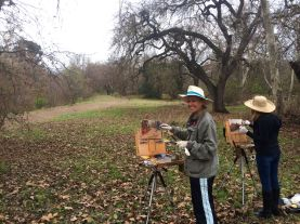 Some of the Los Gatos painters enjoying the outdoors.
