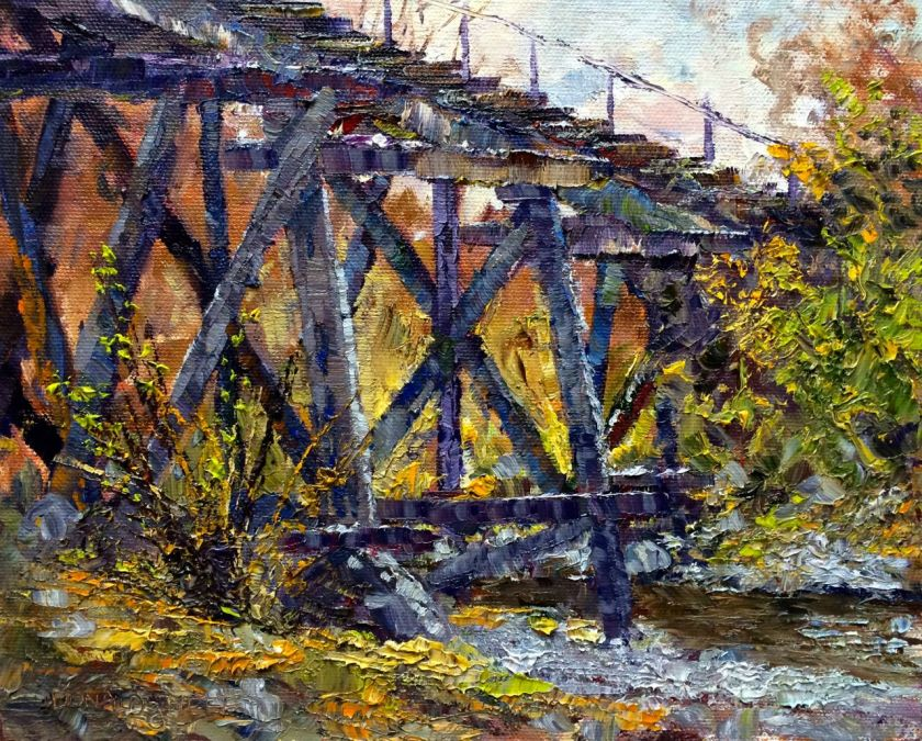 The Trestle Charity, 8x10, oil on board
