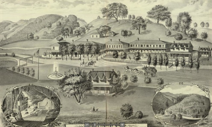 The Pacific Congress Springs Resort Hotel around 1900