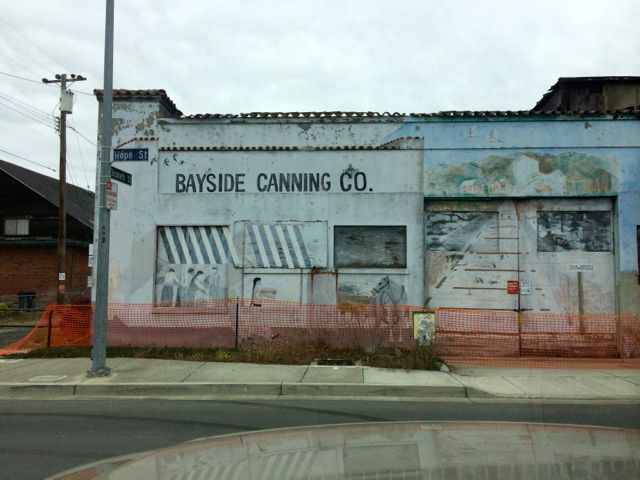 The old abandoned cannery is still there. Parts of Alviso look like a ghost town.