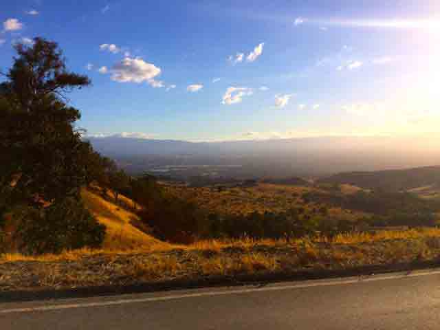 The basic view from Mt Hamilton Road I was painting.