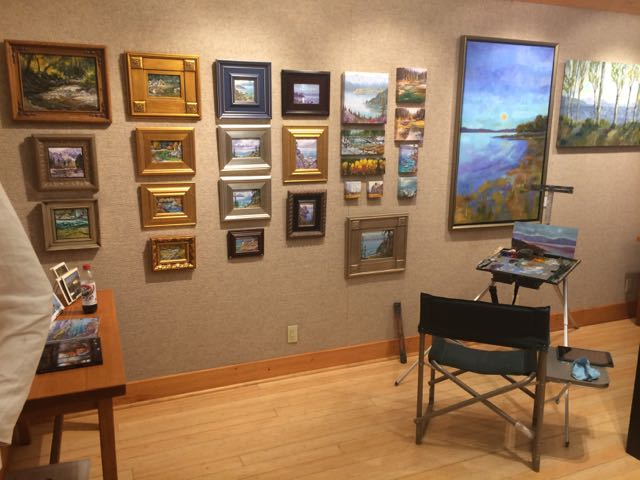 My easel and mini show in the gallery