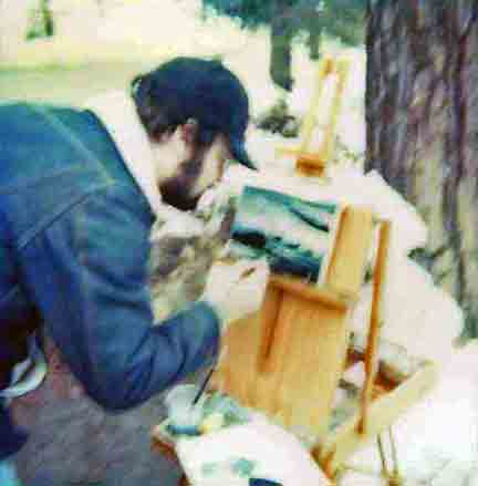 plein air painting in the late 70's