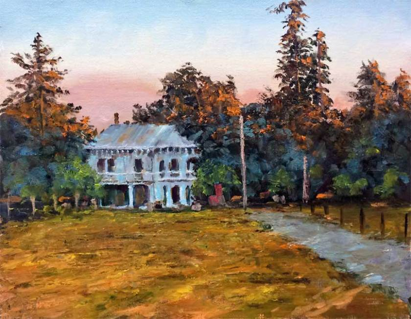 Evening at Martial's, 11x14, oil on panel