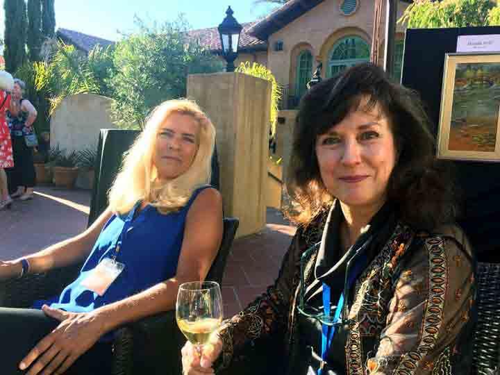 Carol and Marti enjoying the heat