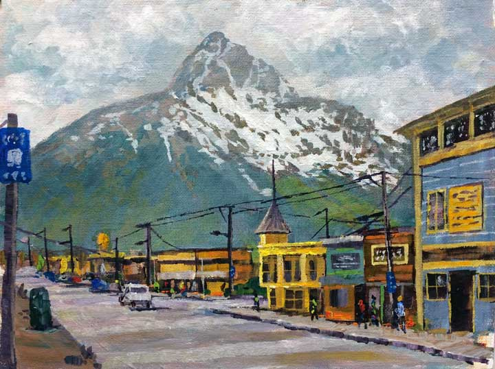 Skagway, 9x12,acrylic on canvas