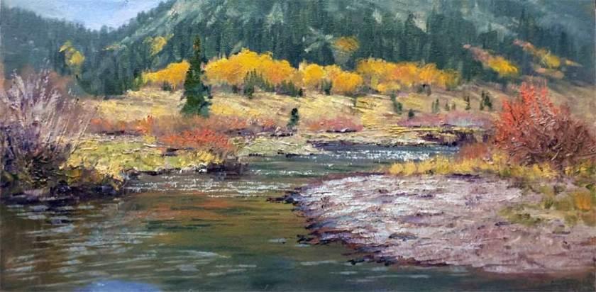 Carson Colors, 8x16, oil on panel, plein air