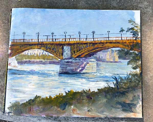 Margaret Bridge across the Danube