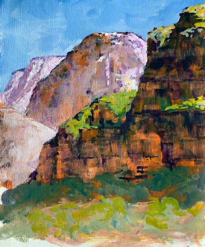 Big Bend View, 10x8, acrylic, plein air