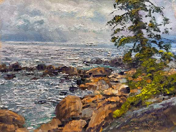 East Shore Squall, 6x8, oil on panel