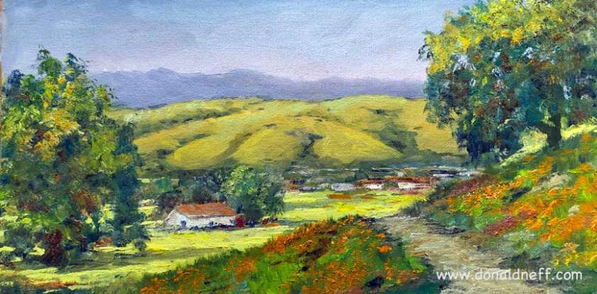 Trail to Coyote Valley, 8x16, oil on board