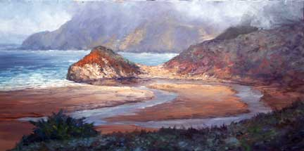big sur, california, seascape, plein air