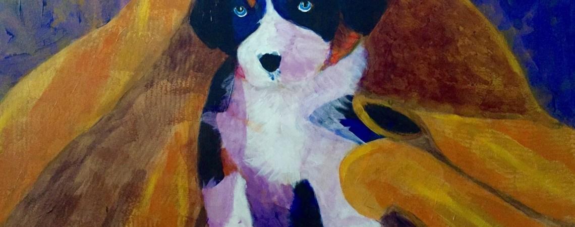 Puppy Bath  - Original For Sale - Prints Available